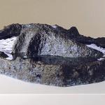 "Bora Bora Manta, 2010 Ceramic, 5.5"" x 22"" x 17"""