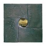"""Mirando con Pepito, 1991-93 Ceramic, 16"""" x 16"""" x 4.5"""""""