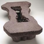 "Rogue River, 2007 Ceramic, 8"" x 17"" x 28.5"""
